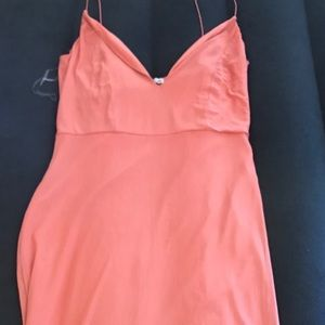 Charlotte Russe peach mesh dress xl